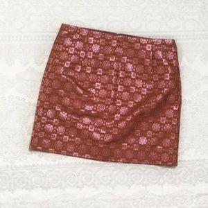 J. Crew Collection Metallic Silk Skirt - Size 00